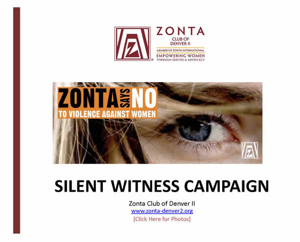 Zonta Says No Silent Witness Campaign